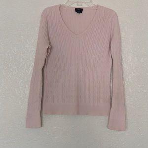 Talbots 100% Cotton Cable Knit VNeck Sweater sz Sp